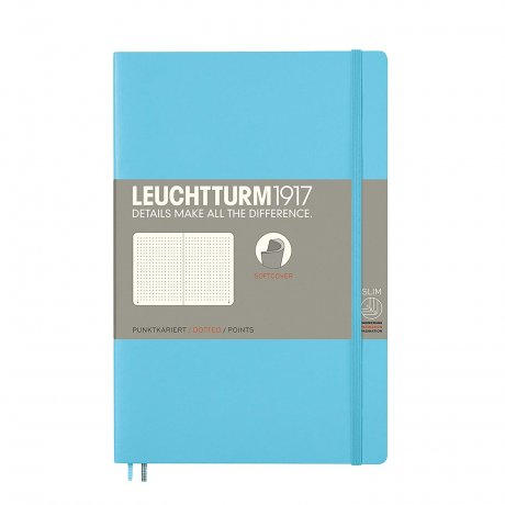 Leuchtturm1917 Paperback Softcover ice blue dotted 1