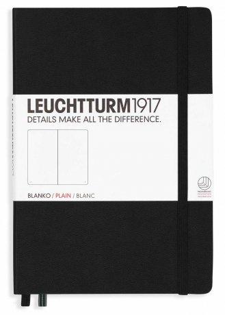 Leuchtturm1917 Notizbuch A4+ slim schwarz blanko 1