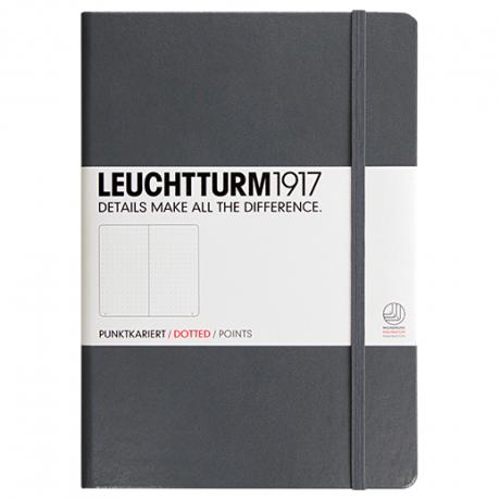"""Leuchtturm1917 Notizbuch """"M"""" anthrazit dotted 1"""