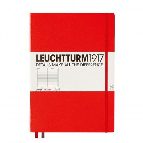 "Leuchtturm1917 Notizbuch ""L"" rot liniert 1"
