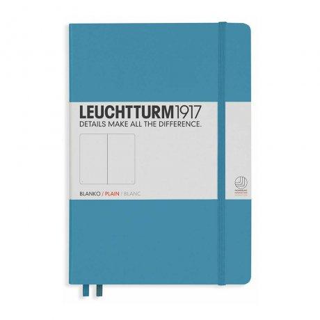 "Leuchtturm1917 Notizbuch ""L"" slim nordic blue blanko 1"