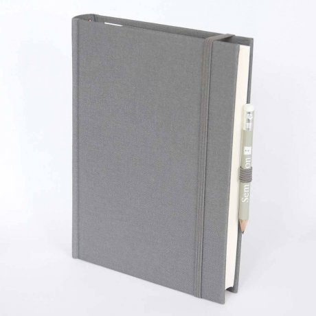 "Semikolon Grand Voyage Notizbuch ""M"" Leinen grau 1"