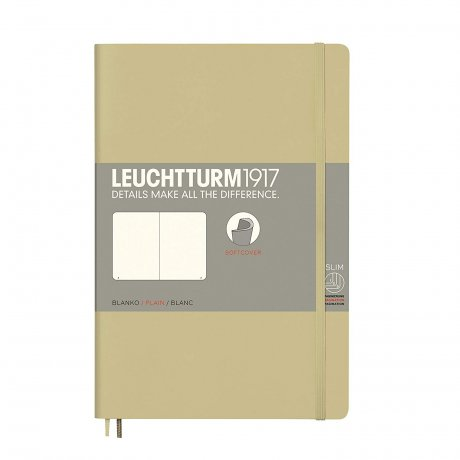 Leuchtturm1917 Paperback Softcover sand blanko 1