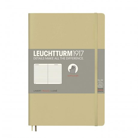 Leuchtturm1917 Paperback Softcover sand liniert 1