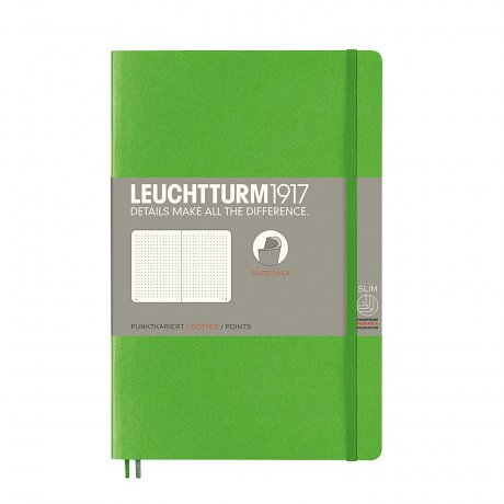 Leuchtturm1917 Paperback Softcover fresh green dotted 1