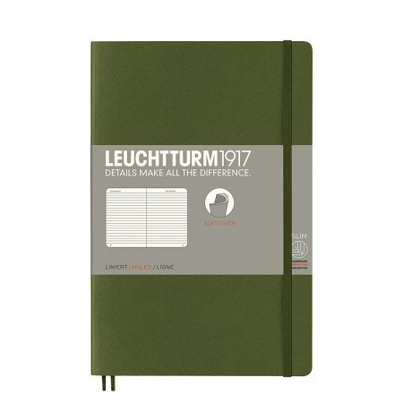 Leuchtturm1917 Paperback Softcover army liniert 1