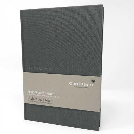 Gmund Projektbuch Leinen graphite A4 1