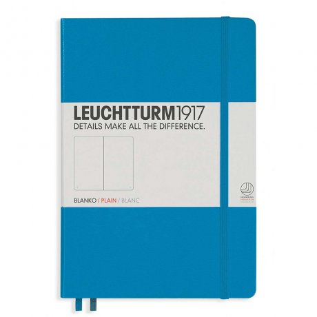 "Leuchtturm1917 Notizbuch ""M"" azur blanko 1"