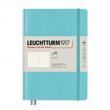 "Leuchtturm1917 Notizbuch Softcover ""M"" aquamarine dotted"