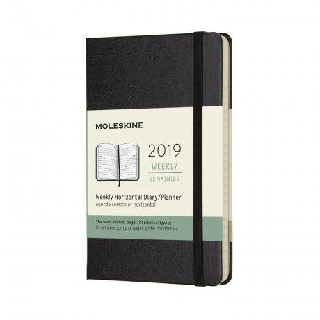 "MOLESKINE® Wochenkalender ""S""  horizontal schwarz 1"