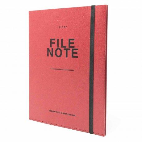 File Note | Notizbuch mit Aufbewahrung von jstory 1