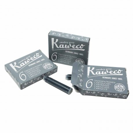 Kaweco Tintenpatronen Rauchgrau | 6 Stück