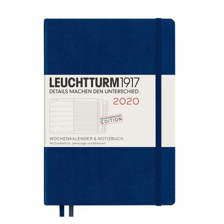 """Leuchtturm1917 """"M"""" Wochenkalender / Notizbuch marine 2020 1"""