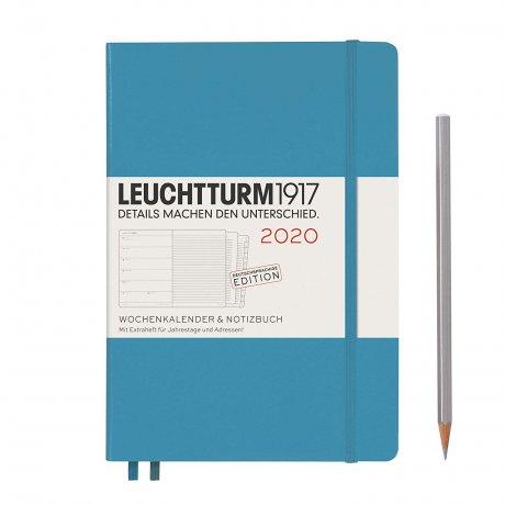 """Leuchtturm1917 """"M"""" Wochenkalender / Notizbuch nordic-blue 2020 1"""