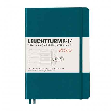 """Leuchtturm1917 """"M"""" Wochenkalender / Notizbuch pacific green 2020 1"""