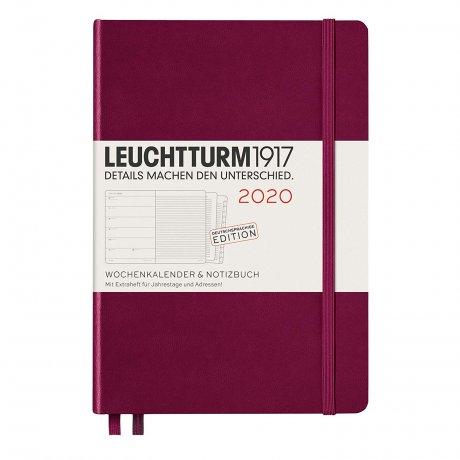 """Leuchtturm1917 """"M"""" Wochenkalender / Notizbuch port red 2020 1"""