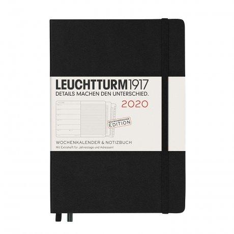 """Leuchtturm1917 """"M"""" Wochenkalender / Notizbuch schwarz 2020 1"""