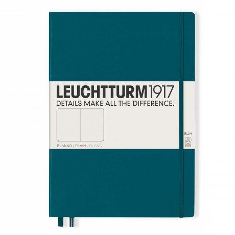 "Leuchtturm1917 Notizbuch ""L"" pacific green blanko 1"