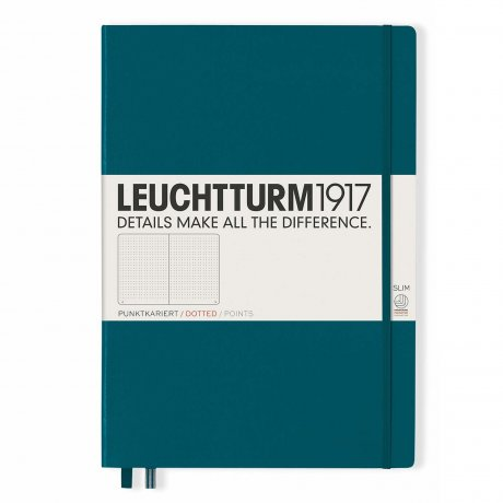 "Leuchtturm1917 Notizbuch ""L"" pacific green dotted 1"