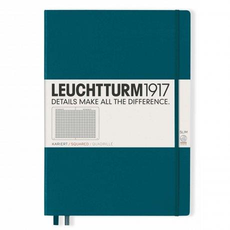"""Leuchtturm1917 Notizbuch """"L"""" pacific green kariert 1"""