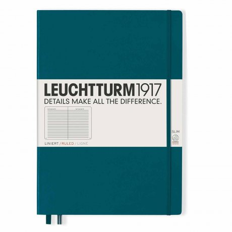Leuchtturm1917 Notizbuch A4+ slim pacific green liniert 1
