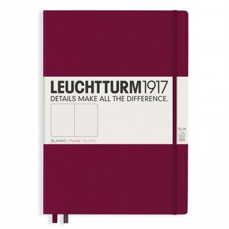 "Leuchtturm1917 Notizbuch ""L"" port red blanko 1"