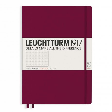 """Leuchtturm1917 Notizbuch """"L"""" port red dotted 1"""