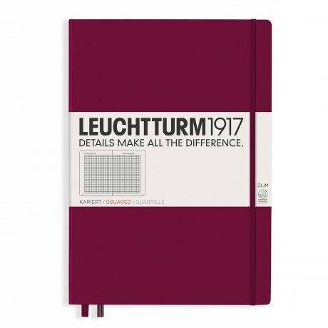 "Leuchtturm1917 Notizbuch ""L"" port red kariert 1"