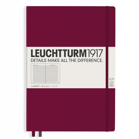 "Leuchtturm1917 Notizbuch ""L"" port red liniert"