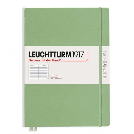 Leuchtturm1917 Notizbuch A4 Master slim salbei liniert 1