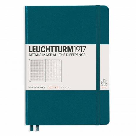 "Leuchtturm1917 Notizbuch ""M"" pacific green dotted 1"