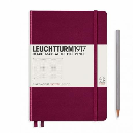 """Leuchtturm1917 Notizbuch """"M"""" port red dotted 1"""
