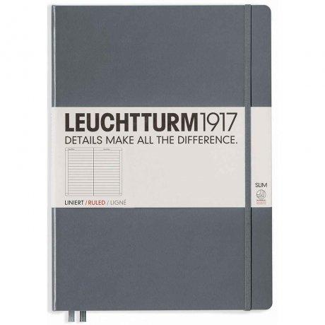 """Leuchtturm1917 Notizbuch """"L"""" slim anthrazit liniert 1"""