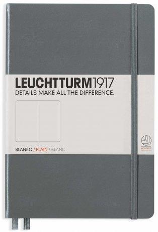 "Leuchtturm1917 Notizbuch Softcover ""M"" anthrazit blanko 1"