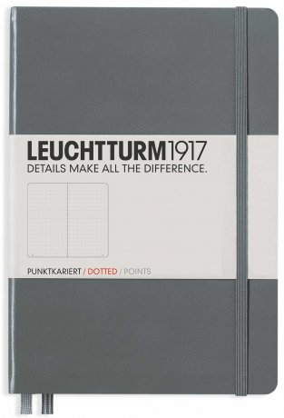 "Leuchtturm1917 Notizbuch Softcover ""M"" anthrazit dotted"