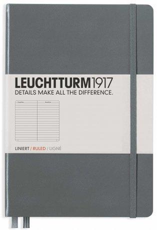 """Leuchtturm1917 Notizbuch Softcover """"M"""" anthrazit liniert 1"""