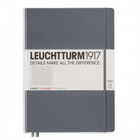 Leuchtturm1917 Notizbuch A4+ slim anthrazit kariert 1