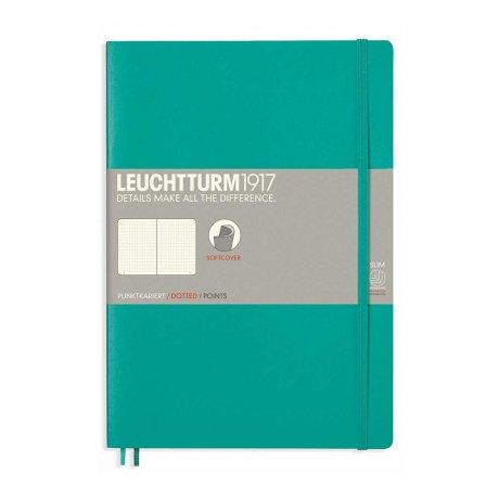 Leuchtturm1917 Notizbuch B5 Softcover smaragd dotted 1
