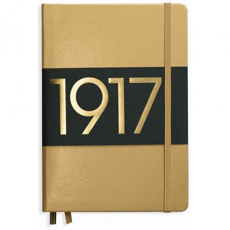 "Leuchtturm1917 Notizbuch ""L"" slim gold dotted"