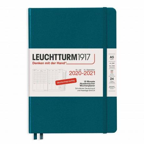 Leuchtturm 1917 Wochenkalender/Notizbuch 2021 Deutsch pacific green 1