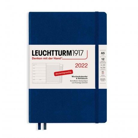 Leuchtturm 1917 Wochenkalender/Notizbuch 2022 Deutsch marine 1