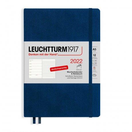 Leuchtturm 1917 Wochenkalender/Notizbuch 2022 Softcover Deutsch marine 1