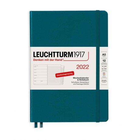 Leuchtturm 1917 Wochenkalender/Notizbuch 2022 Deutsch pacific green 1