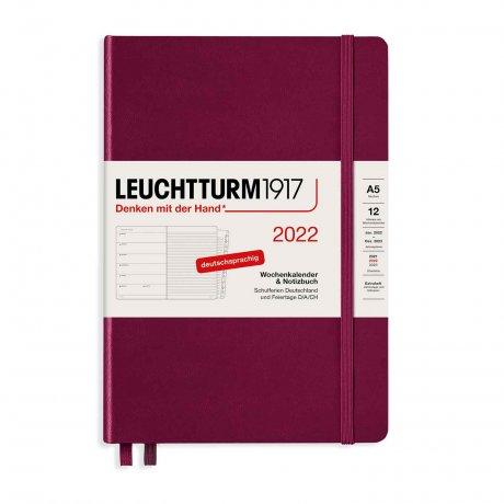 Leuchtturm 1917 Wochenkalender/Notizbuch 2022 Deutsch port red 1