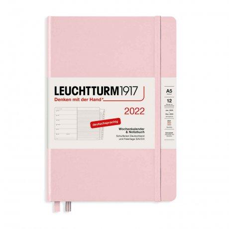 Leuchtturm 1917 Wochenkalender/Notizbuch 2022 Deutsch puder 1