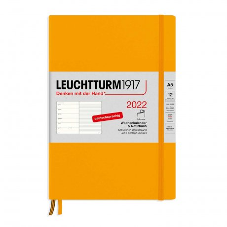 Leuchtturm 1917 Wochenkalender/Notizbuch 2022 Softcover Deutsch rising sun 1