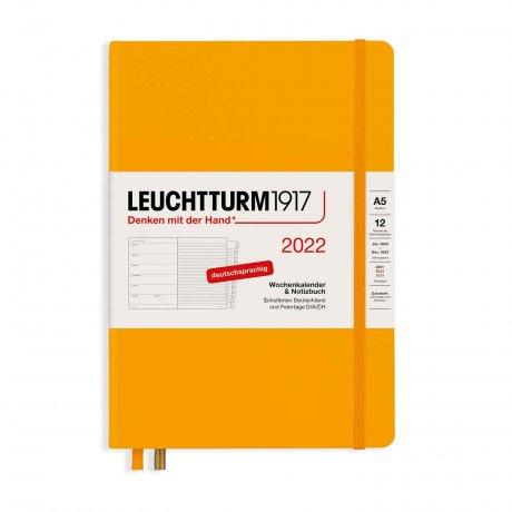 Leuchtturm 1917 Wochenkalender/Notizbuch 2022 Deutsch rising sun 1