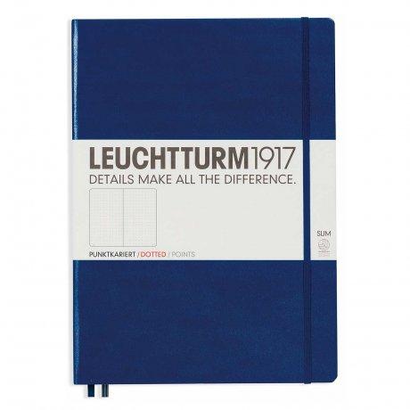 Leuchtturm1917 Notizbuch A4+ slim marine dotted 1