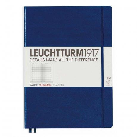 Leuchtturm1917 Notizbuch A4+ slim marine kariert 1