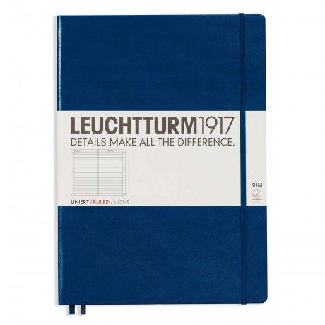 """Leuchtturm1917 Notizbuch """"L"""" slim marine liniert 1"""